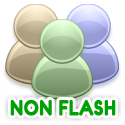 Non Flash chat room for iPad and non flash smart phones