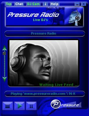 Pressure Radio custom windows app