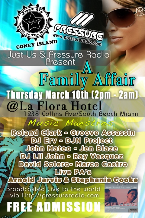 Miami wmc Event 2011 A Family Affair Thursday March 11th  flyer