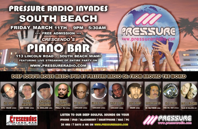 Miami WMC Event Soulful House Piano Bar 11 March 2011 flyer image