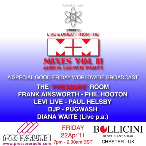 good friday 22 april 2011 soulful house event live broadcast on Pressure rdio