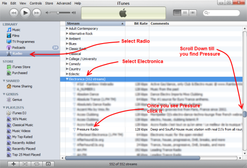 how to find radio stations on itunes