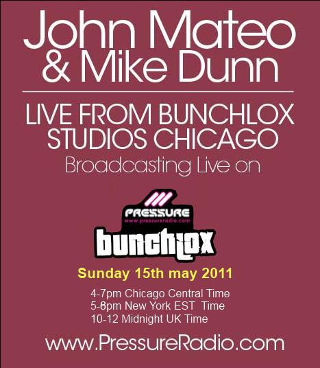 John Mateo (Mateo & Matos) & Mike Dunn live from bunchlox studio on Pressure Radio image