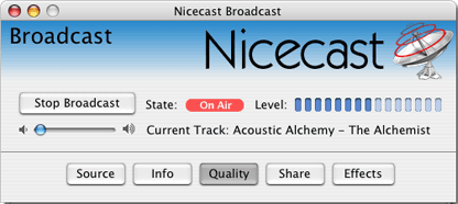 nicecast mac internet streaming broadcast software