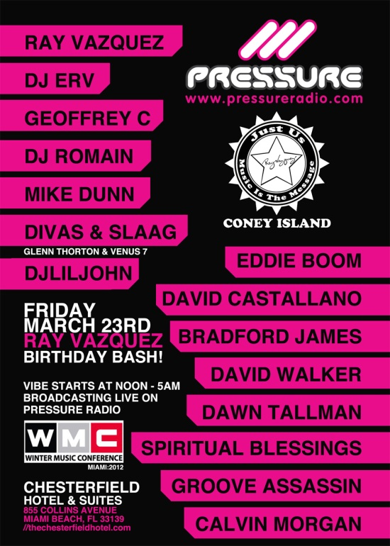 WMC 2012 Winter Music Conference Event live radio broadcast 23 march