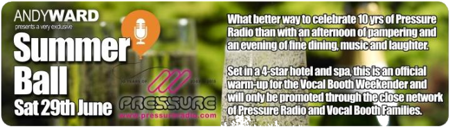 Pressure Radio Birthday Party Summer ball flyer image