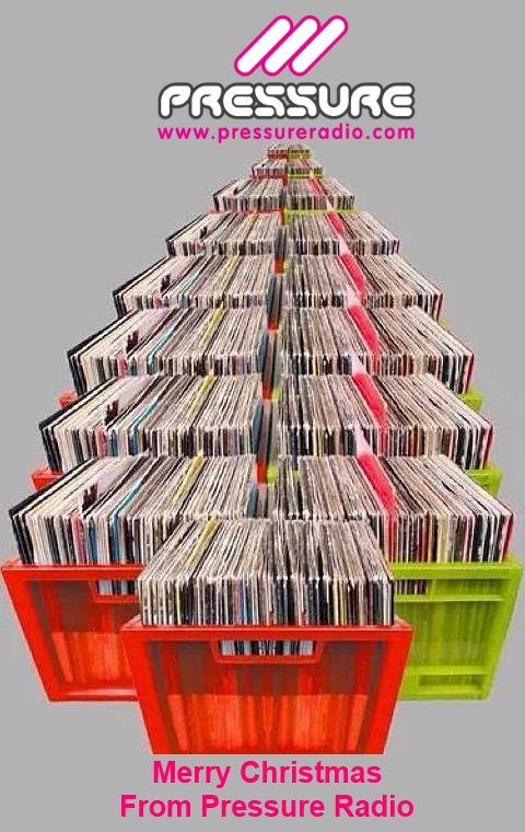Pressure Radio Record Crate Christmas Tree