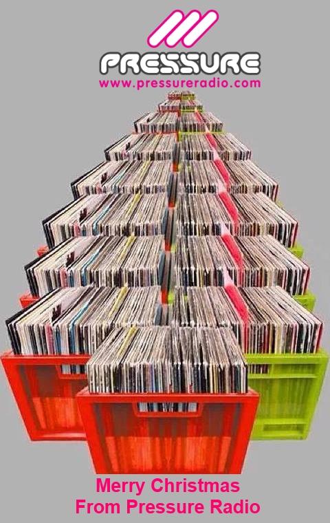 Pressure Radio Record Crate Christmas Tree