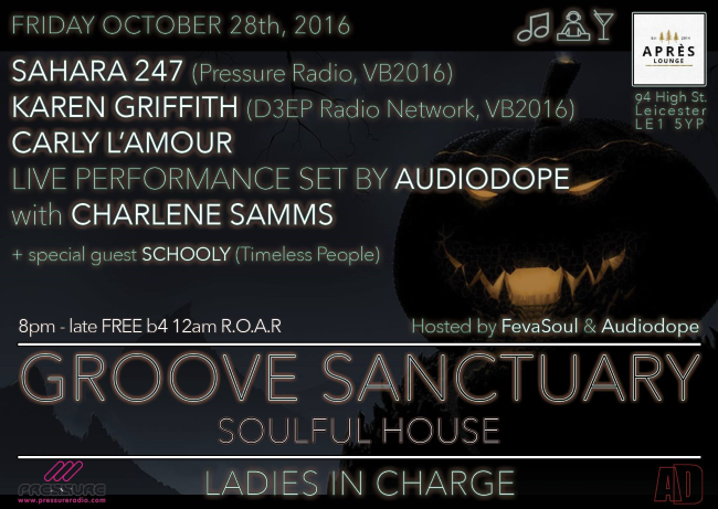 Ladies in Charge Groove Sanctuary 28-oct-16 flyer back