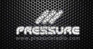 Pressure Radio Speaker grill logo
