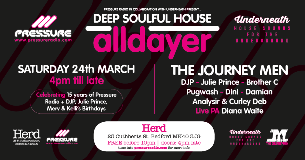 Pressure Radio All Dayer event 24 March 2018