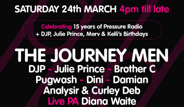 Pressure Radio Alldayer Party 24-March-2018
