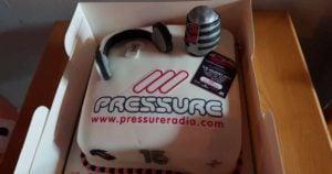 Pressure Radio 15 year Birthday Cake