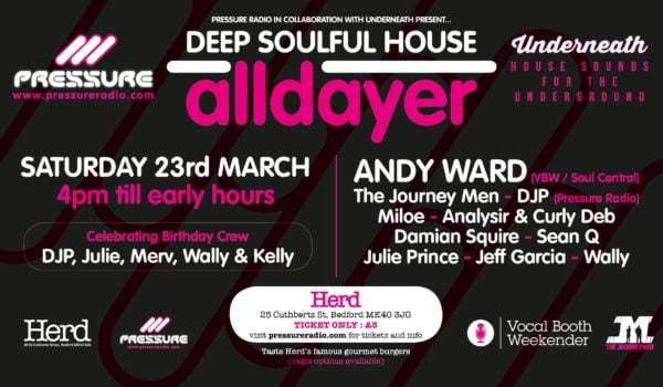 23-March-2019  Underneath & Pressure Radio Soulful House Alldayer