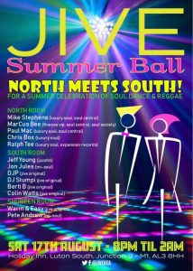 Jive FM Summer Ball Saturday 17th August 2019 flyer front
