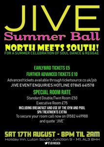 Jive FM Summer Ball Saturday 17th August 2019 Flyer back image