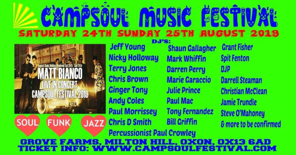 Campsoul Music Festival 2019 flyer image