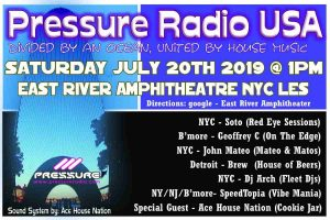 Pressure Party 2019 Saturday 20th July 1pm All day event flyer